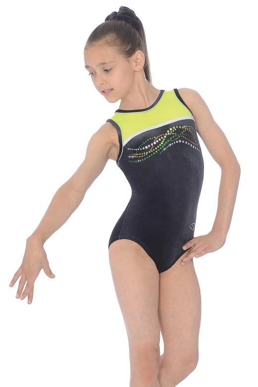 Neon Sleeveless Gymnastics Leotard