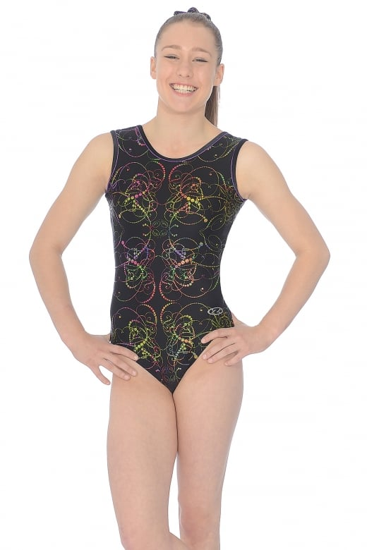 Nocturne All-Over Print Sleeveless Gymnastic Leotard