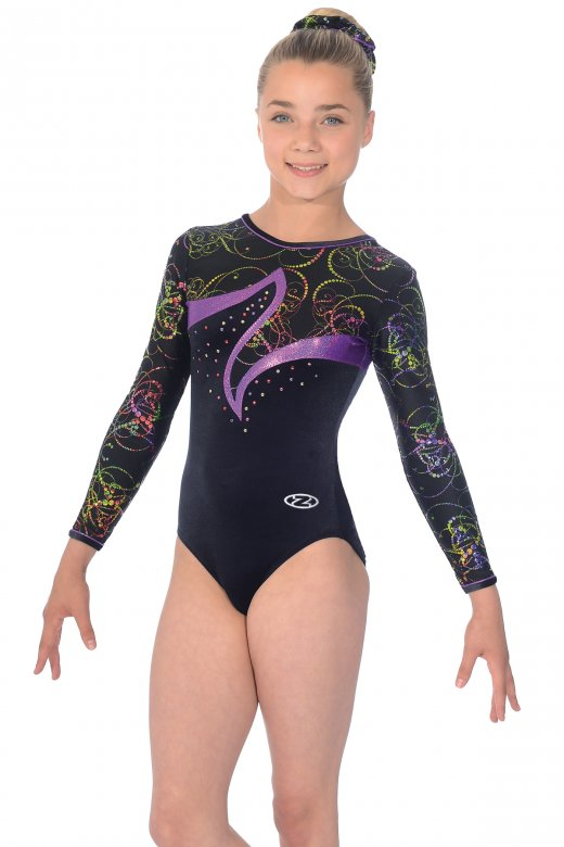 Nocturne Long Sleeved Gymnastics Leotard