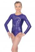 Orla Long Sleeved Crystal Motif Gymnastics Leotard