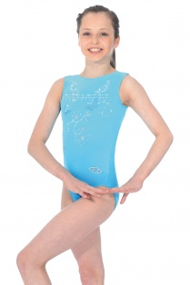 Panache Butterfly Motif Sleeveless Gymnastics Leotard