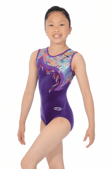 Papaya Girls' Sleeveless Gymnastics Leotard