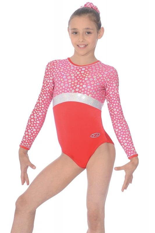 Poppy Long Sleeve Gymnastics Leotard  aaf830cda33