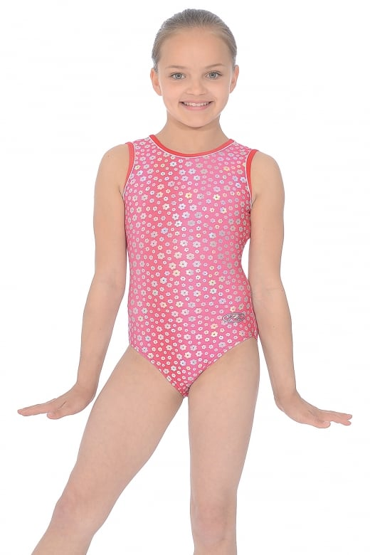 Poppy Print Gymnastics Leotard