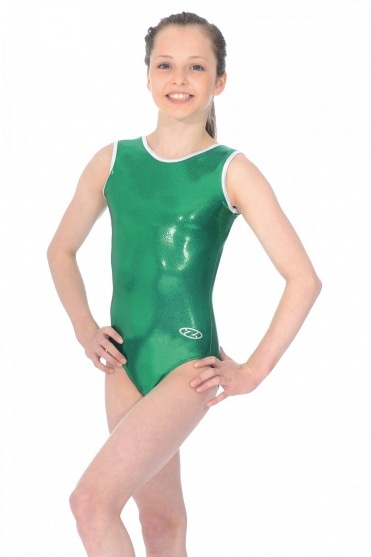 Glam Sleeveless Shiny Nylon Lycra Leotard