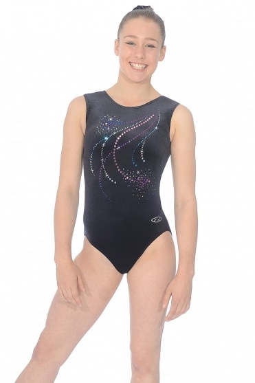 Pom Pom Sleeveless Gymnastics Leotard