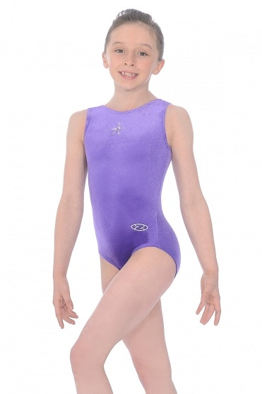 Sparkle Sleeveless Crystal Star Gymnastics Leotard