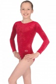 Ramona Long Sleeved Crushed Velour Leotard