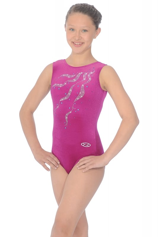 Ribbons Sleeveless Gymnastics Leotard | The Zone