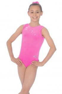Roxy Crystal Motif Smooth Velour Leotard