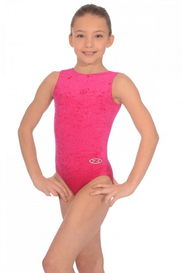Salto Sleeveless Crushed Velour Leotard