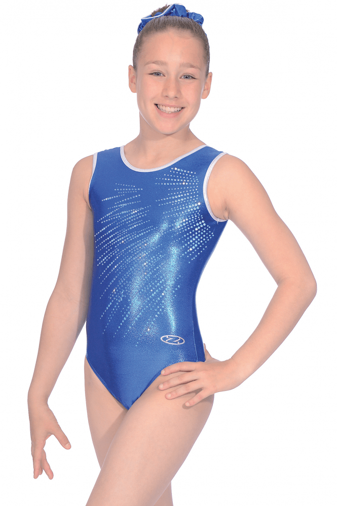 Sleeveless Shine Gymnastics Leotard Motif 8