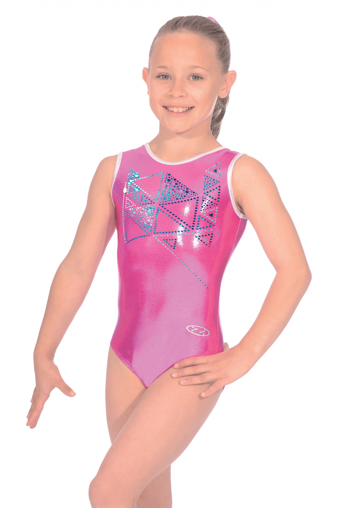 Sleeveless Shine Gymnastics Leotard Motif 9