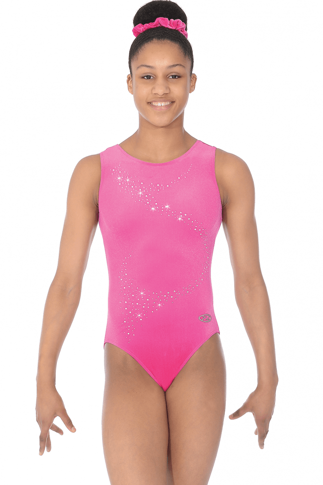 Sleeveless Smooth Velour Leotard Motif 1