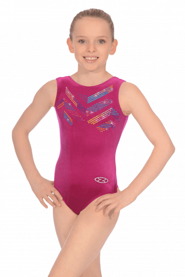 Sleeveless Smooth Velour Leotard Motif 2