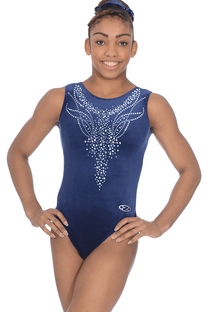 Sleeveless Smooth Velour Leotard Motif 3
