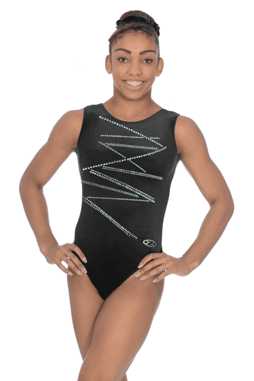 Sleeveless Smooth Velour Leotard Motif 4