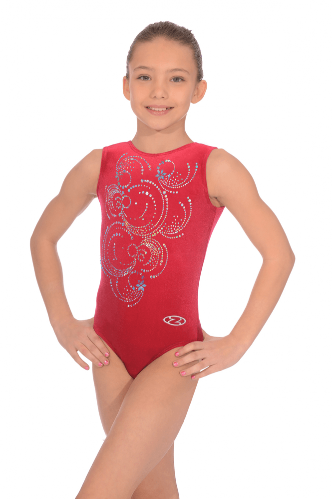Sleeveless Smooth Velour Leotard Motif 5
