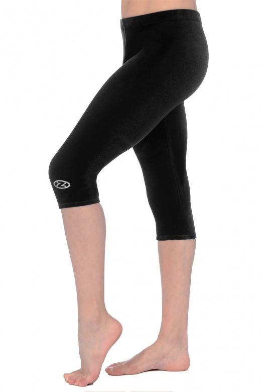 Smooth Velour Capri Gymnastics Leggings