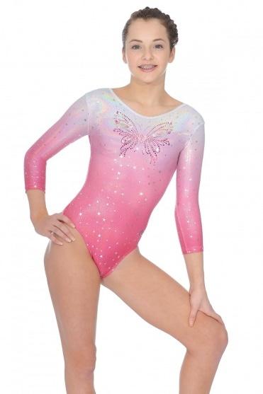 Soda 3/4 Sleeve Gymnastics Leotard