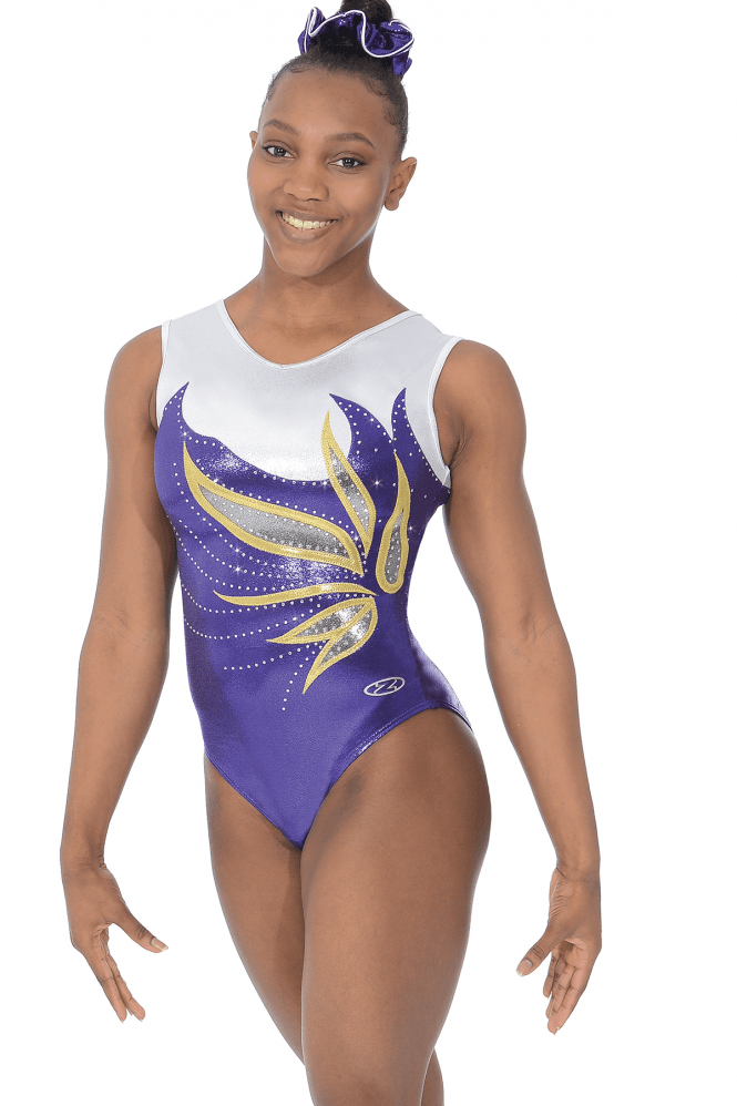 Sofia Girls' Sleeveless Gymnastics Leotard