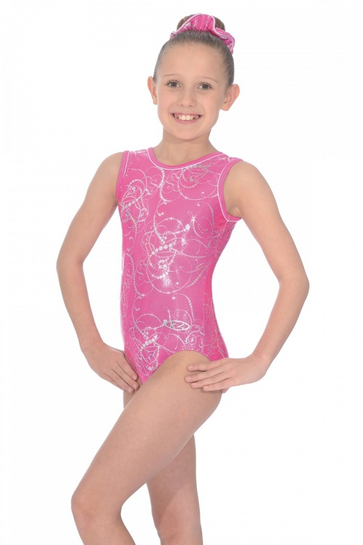 Sorbet All-over Print Sleeveless Gymnastics Leotard