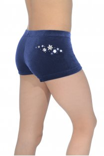 Star Smooth Velour/Lycra Hipster Shorts