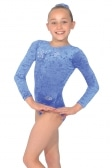 Stellar Long Sleeved Motif Gymnastics Leotard