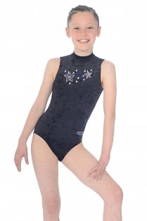 Stellar Sleeveless Motif Gymnastics Leotard