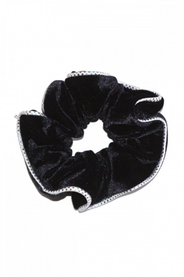 Two-Tone Smooth Velour Hair Scrunchie