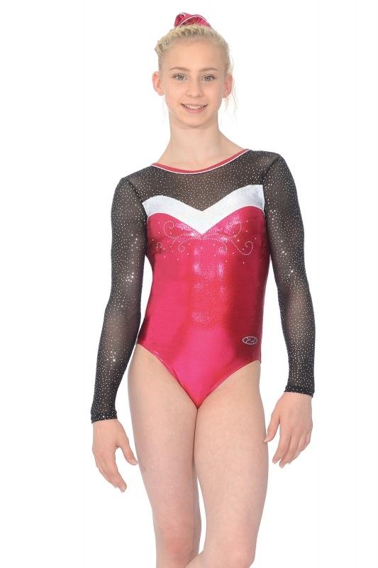 9c6ccbb46 Ultra Mesh Sleeve Gymnastics Leotard