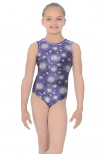 Zodiac All-Over Print Sleeveless Gymnastics Leotard
